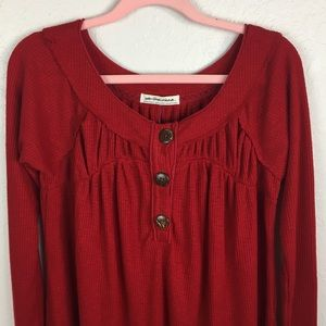 Free People Tops - We The Free Must Have Henley in Red NWOT
